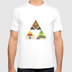 The Legend of Zelda: Legend of the Triforce White MEDIUM Mens Fitted Tee