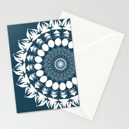Navy Blue Mandala Stationery Cards