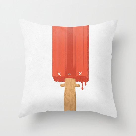 Ice Cold Killer Throw Pillow