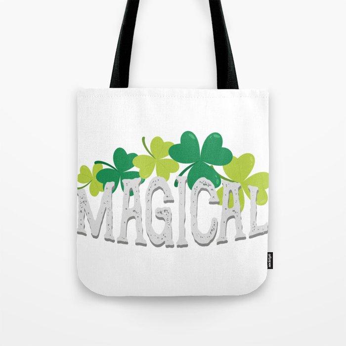 Magical Love Unicorn St Patricks Day Kids Girl Women Tote Bag