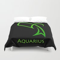aquarius Duvet Covers featuring Aquarius by Groovyal