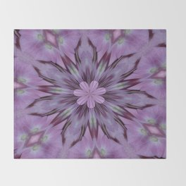 Floral Abstract Of Pink Hydrangea Flowers Throw Blanket