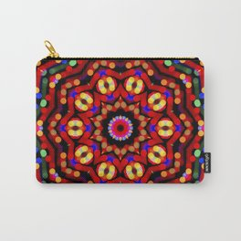 Kaleidoscope Christmas Bokeh Light Trails Carry-All Pouch