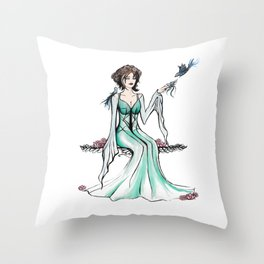 The Nature Princess #society6 Throw Pillow