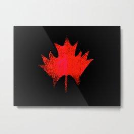 Maple leaf red Metal Print