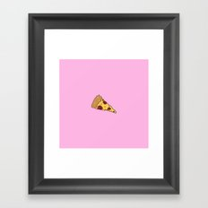 Pink PIzza Framed Art Print