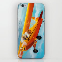 Yellow Plane, Blue Sky iPhone Skin