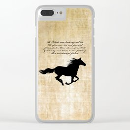 The Black Stallion - Walter Farley Clear iPhone Case