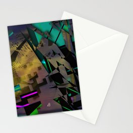 Phased Shifted Spacetime Stationery Cards