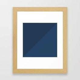 Blue Triangle V1 Framed Art Print
