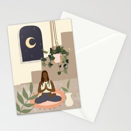 Find the silence within you Stationery Cards