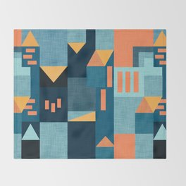 Yellow Klee houses Throw Blanket