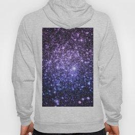 Galaxy Sparkle Stars Purple Periwinkle Blue Hoody
