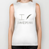 shakespeare Biker Tanks featuring Shakespeare by Normandie Illustration