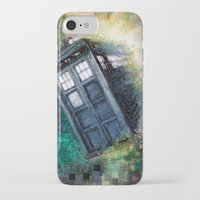dr who iPhone & iPod Cases featuring Dr. Who Tardis by Mercenary Art Studio
