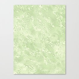 Lime Green Silk Moire Pattern Canvas Print