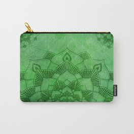 Emerald Green Lotus Mandala Carry-All Pouch