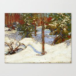 Tom Thomson Snow in the Woods c. 1912-1913 Canadian Landscape Artist Canvas Print