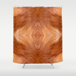 Red fox hairy fur texture cloth Shower Curtain
