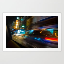 Bangkok Traffic Blur Art Print