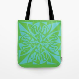 Think Mandala - Green Blue Tote Bag