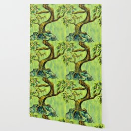 Teal Bonsai Wallpaper