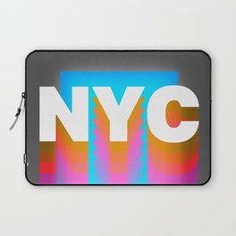 NYC colorful print design Laptop Sleeve