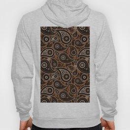 Chocolate Brown Paisley Pattern Hoody