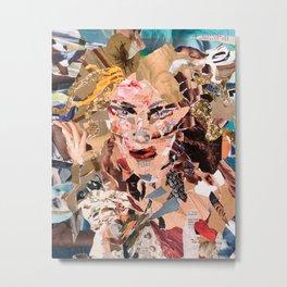 Slash - Magazine Collage Metal Print
