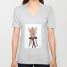 Easel Love Unisex V-Neck