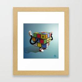 Rubiks Cube Framed Art Print