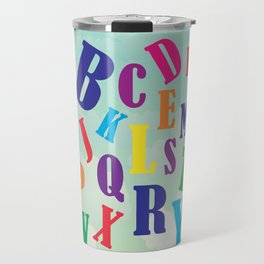 Alphabet art , nursery decor , children gift, birthday gift Travel Mug