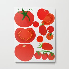 Tomato Harvest Metal Print