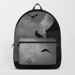 Black White Crows Bird Gothic Church Architecture Art A650 Backpack