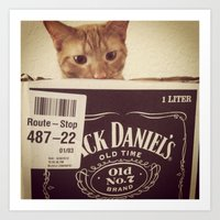 Whiskers and Whiskey Art Print