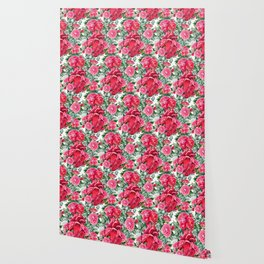 Watercolor heart with floral design Wallpaper