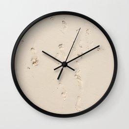 Sand foot Wall Clock