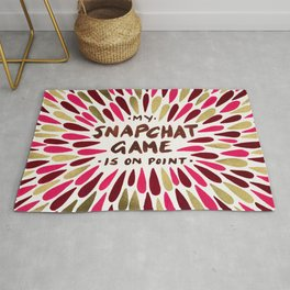 Snapchat – Red & Gold Rug
