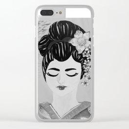 Portrait of a Geisha Clear iPhone Case
