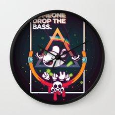 SOMEONE DROP THE BASS. (Dubstep Club) Wall Clock