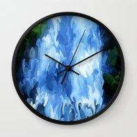 waterfall Wall Clocks featuring Waterfall by Paul Kimble