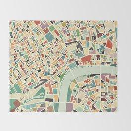 CITY OF LONDON MAP ART 01 Throw Blanket
