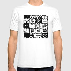 I am a pattern, pattern SMALL White Mens Fitted Tee
