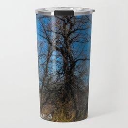 Wyoming Winter Trees Travel Mug