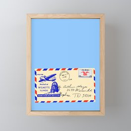 Letter Framed Mini Art Print