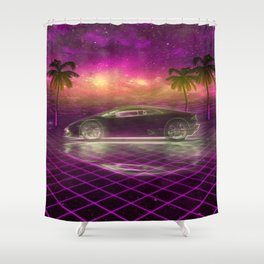 Back to the eighties Shower Curtain