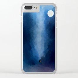 Cabin In Blues Clear iPhone Case
