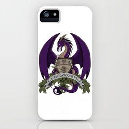 Clan Stonefire Crest - Purple Dragon iPhone Case