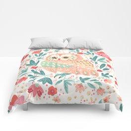 Little Pink Owl Comforters
