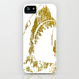Abstract Great White Shark iPhone Case